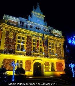 MEILLEURS  VOEUX de NORMANDIE dans Blonville noel-2012-mairie-villers-2-texte-262x300