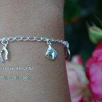 Madilar Bracelet argent pampilles thème équestre BB-001